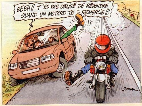 Qu'ils sont polis ces motards !