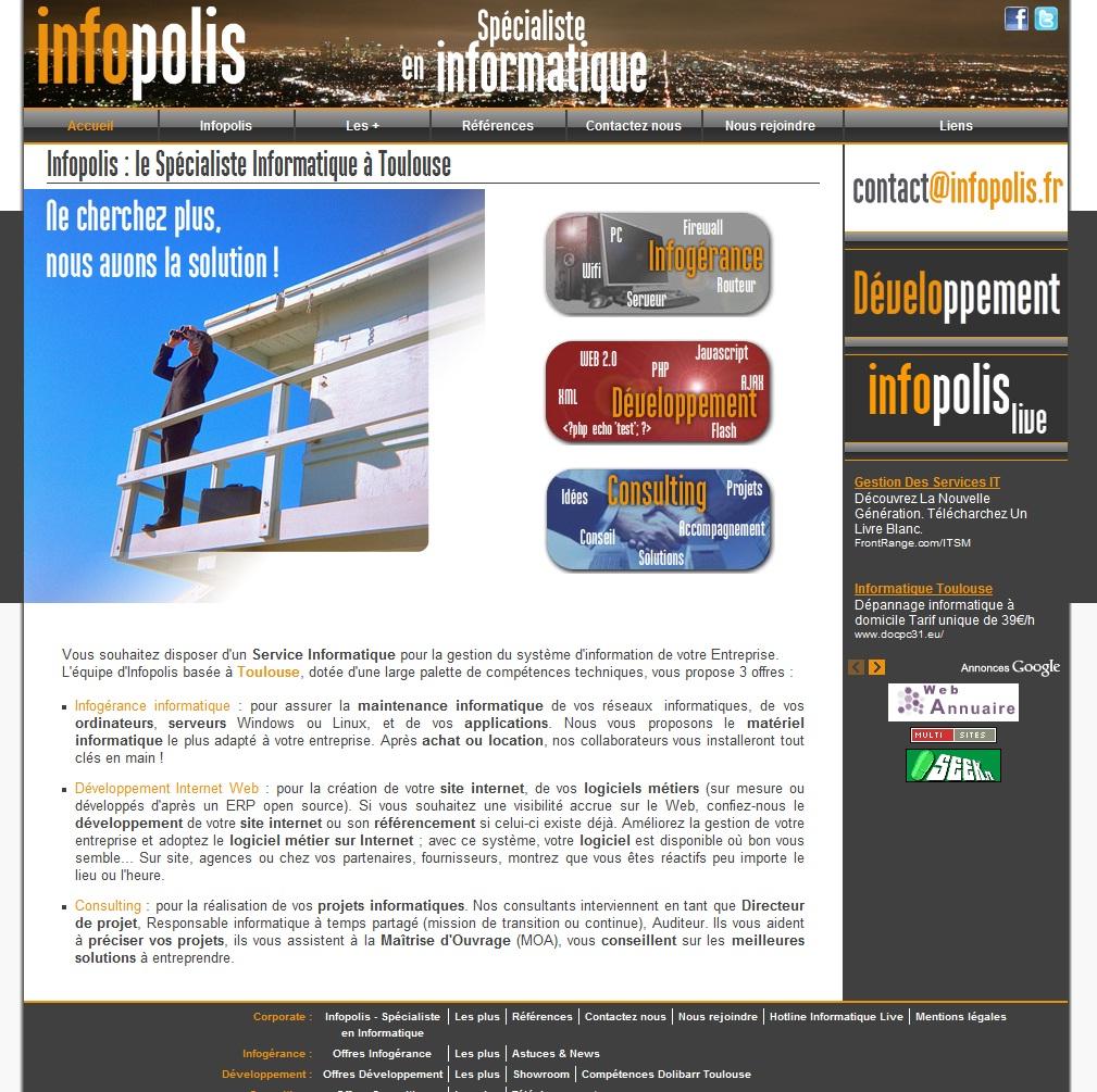 Infopolis - Conseils, Infogérance & Développements