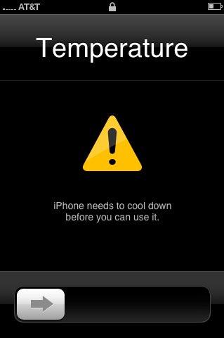 iPhone en surchauffe