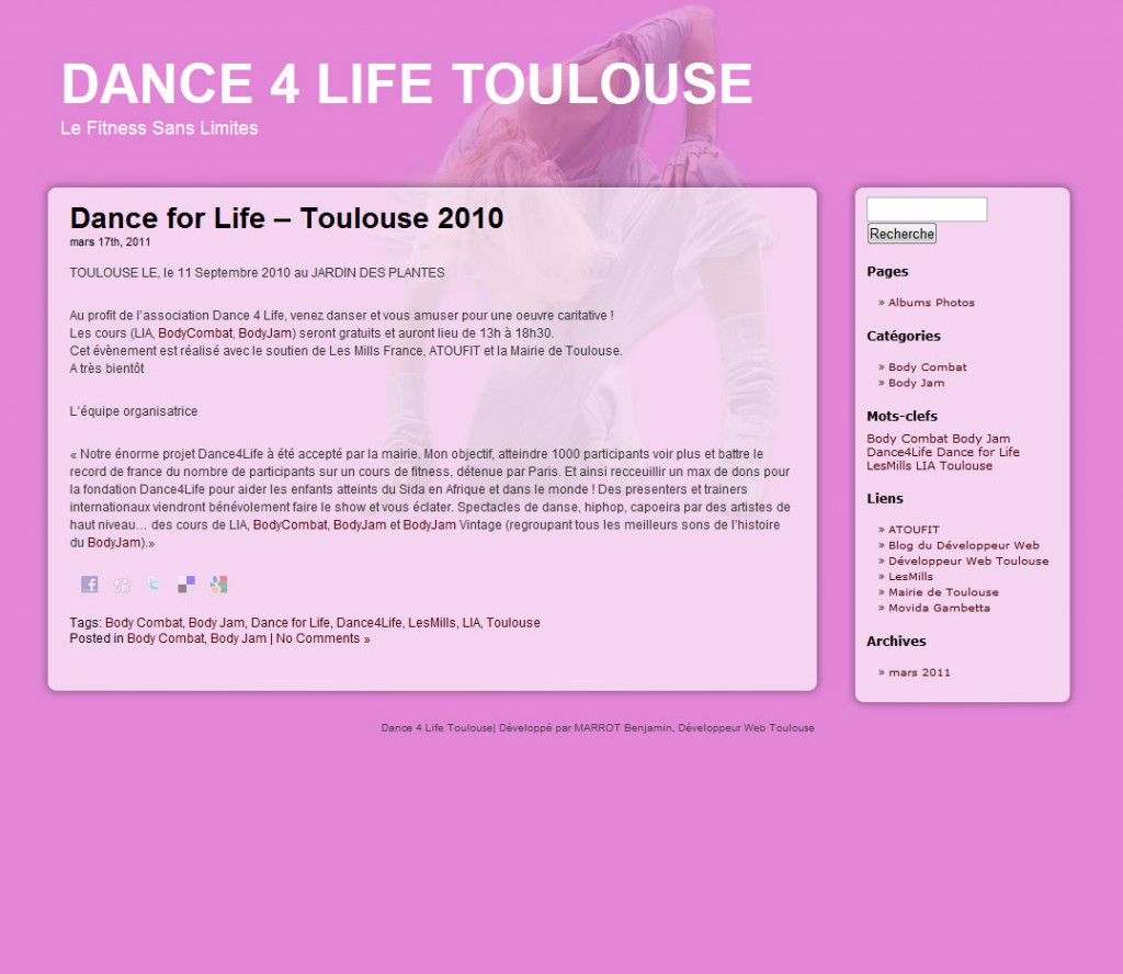 Dance4Life Toulouse 2010