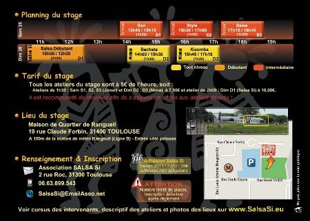 Programme du stage danses cubaines
