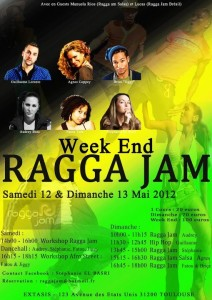 Weekend Ragga Jam le 12 et 13 Mai